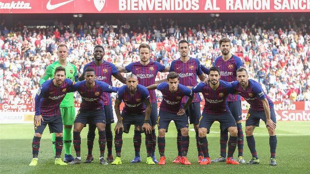 El 1x1 del Barça ante el Sevilla en la primera parte