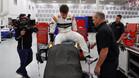Alonso, con el coche en los talleres de Andretti Autosport