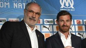 Andoni Zubizarreta y André Villas-Boas, director deportivo y entrenador del OM