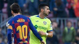 Ángel Rodríguez no celebró su gol en el Camp Nou