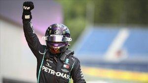 Así celebró Hamilton su triunfo en el GP de Estiria.