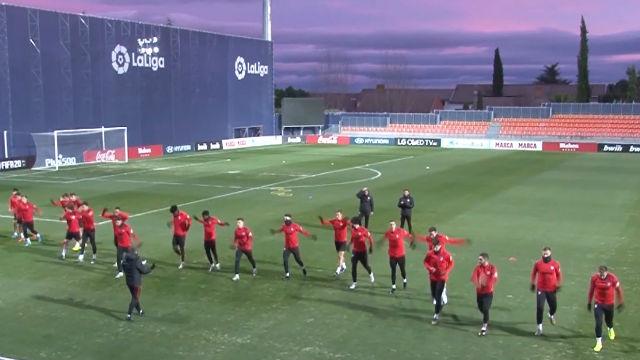 El Atlético ya prepara su duelo ante Osasuna tras su partido de Champions