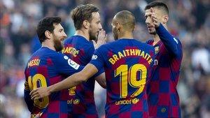 El Barça es el líder de LaLiga, dos puntos por delante del Real Madrid