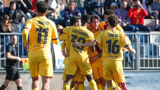 El Barça B logró la victoria ante el Prat