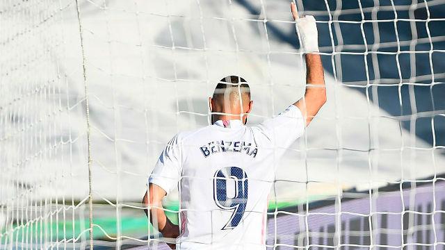 Benzema completó su doblete tras asitencia de Rodrygo