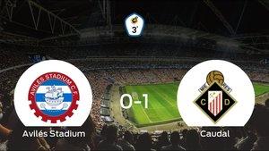 El Caudal Deportivo vence 0-1 en el estadio del Avilés Stadium