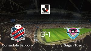 El Consadole Sapporo derrota en casa al Sagan Tosu por 3-1