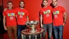 El equipo belga de Copa Davis, anfitrión de la final contra Gran Bretaña