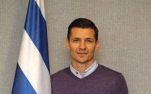 Galca posa con los colores del RCD Espanyol