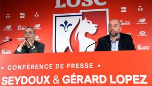 Gerard López realizó su primera rueda de prensa como presidente del Lille