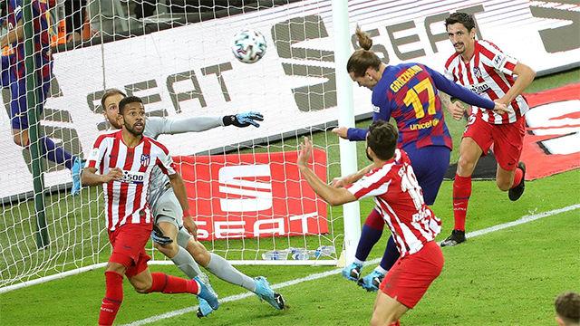 Griezmann adelantó al Barça... tras una parada de escándalo de Oblak