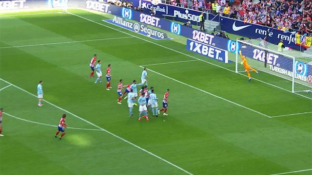 Griezmann sacudió la red con un golazo de falta por la escuadra