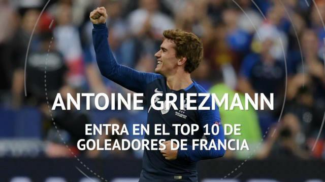 Griezmann, en el top 10 de goleadores históricos de Francia