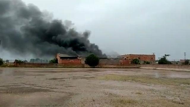 Se incendia una nave al lado de la Ciudad Deportiva del Villarreal