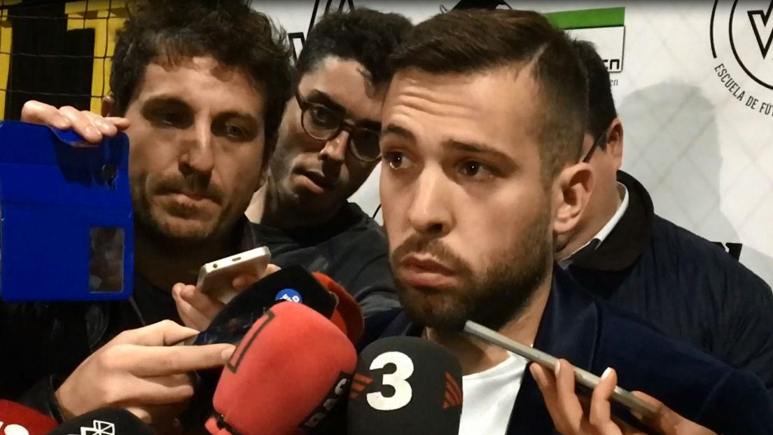 Jordi Alba: Luis Enrique es el mejor entrenador para el Barça