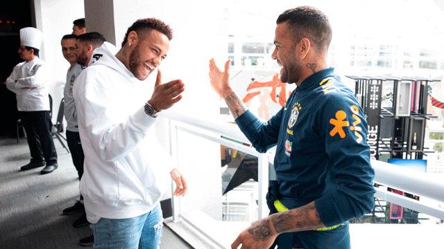 Las últimas imágenes de Neymar en Brasil