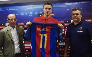 Lasse Andersson está convencido de que llega al Barça en el mejor momento