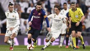 Messi fue protagonista en el último Clásico en el Bernabéu