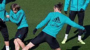 Modric y Bale se quedaron en el gimnasio