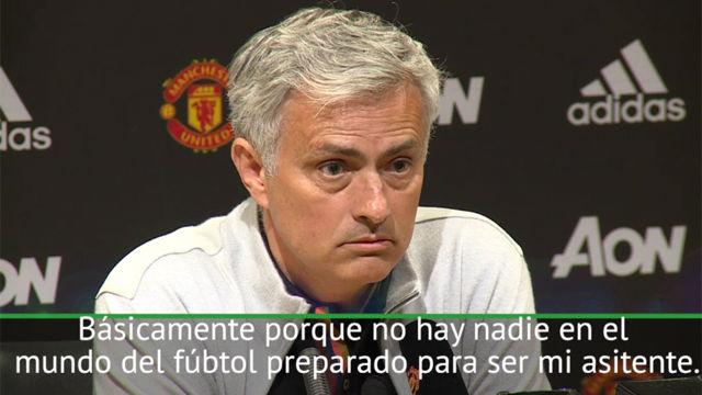 Mourinho: Nadie está preparado para ser mi asistente