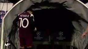 Neymar se retiró lesionado en la primera parte