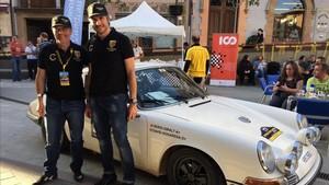Nogareda y Giralt, con su Porsche