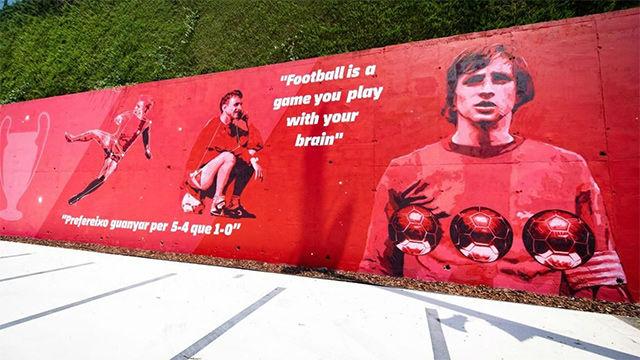 El nuevo mural de la Ciutat Esportiva del Barça