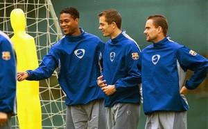 Overmars, junto a otros holandeses del equipo