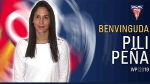Pili Peña es uno de los refuerzos del CN Terrassa