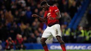 Pogba celebrando su gol con un baile