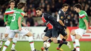 La presencia del PSG en Bilbao provocó incidentes