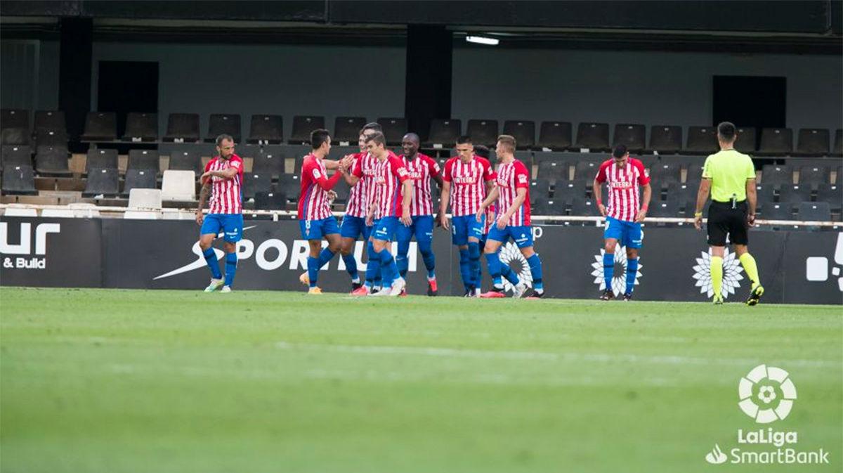 El Real Sporting suma tres puntos a su casillero ante el Cartagena