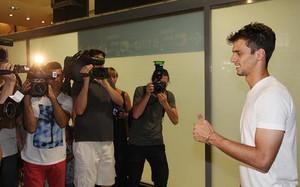 Rodrigo Caio en su llegada a Valencia