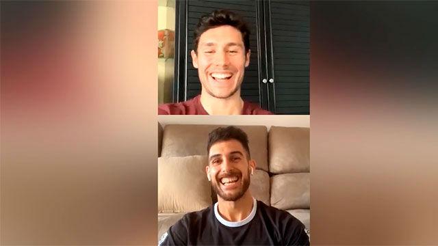 Roger y Adolfo estrenaron los directos en Instagram