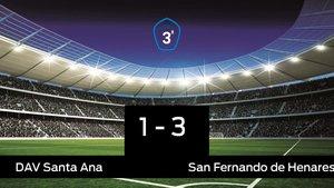 El San Fernando de Henares vence por 1-3 al Santa Ana