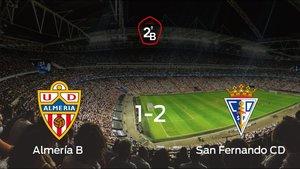 El San Fernando se lleva la victoria tras vencer 1-2 al Almería B