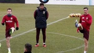 Simeone dirigió el entrenamiento