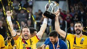 Tomàs y Entrerríos levantaron la última Copa del Rey con el Barça