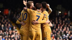 El Tottenham no falló en su visita a Craven Cottage