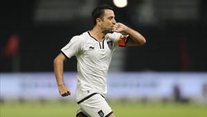 Xavi marcó el primer gol del Al Sadd