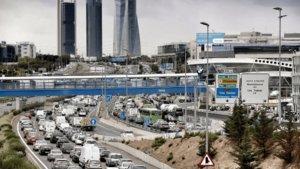 Atasco en la entrada de Madrid.