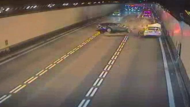 Accidente en el túnel de Vallvidrera