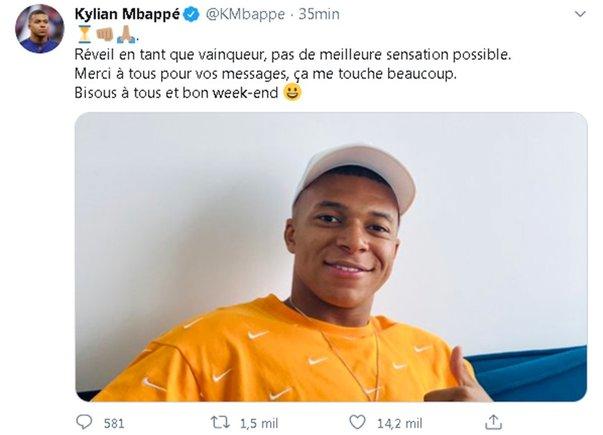 El mensaje de agradecimiento de Mbappé