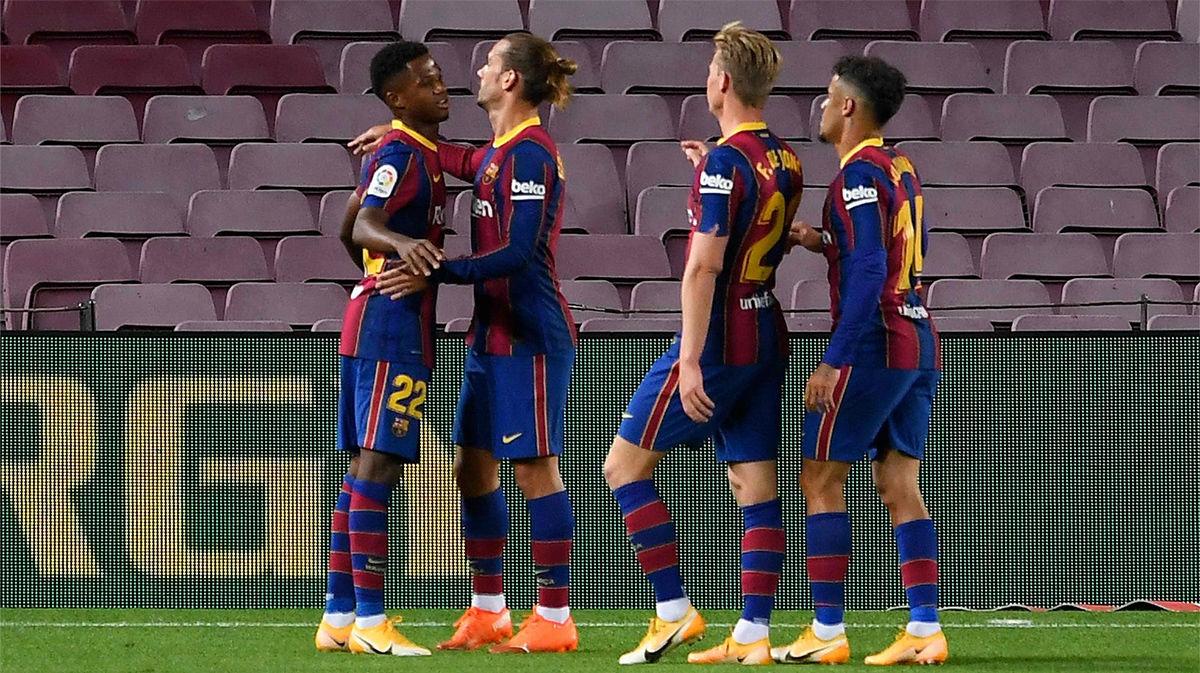 El 1x1 del Barça al descanso ante el Valladolid
