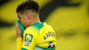 Aarons, en un partido con el Norwich