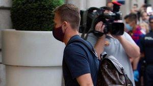Arthur regresó a Barcelona