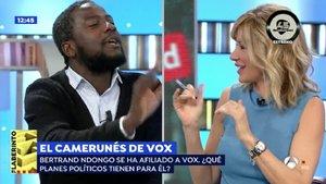 Así ha sido el encontronazo de Susanna Griso con el camerunés afiliado a Vox