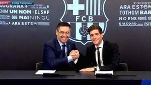 Bartomeu destacó la importancia de Sergi Roberto para el Barça