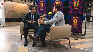 Bartomeu, durante la entrevista