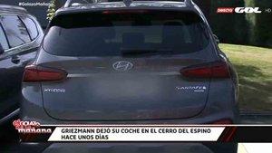 El coche de Antoine Griezmann en las instalaciones del Atlético de Madrid